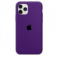 Силиконовый чехол - Silicone Case iPhone 11pro Max Фиолетовый (Brinjal)