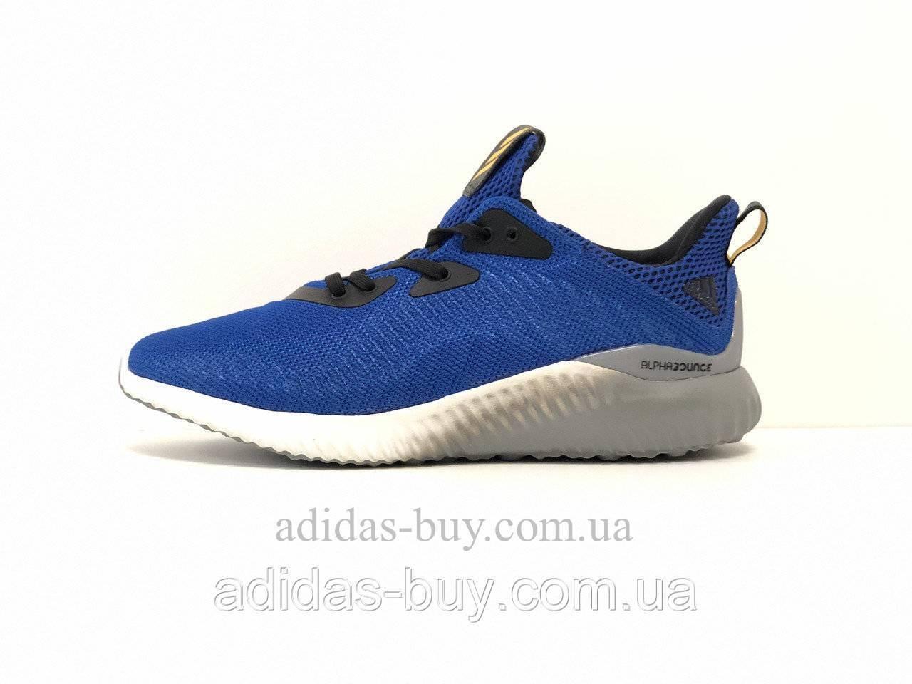 Кроссовки мужские оригинал Adidas alphabounce m BB9037 для бега и повседневные цвет: синий
