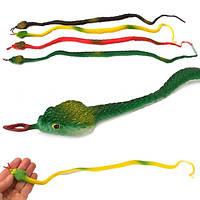 Игрушка резиновая Змея большая 10 шт