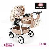 Кукольная коляска LILY SPORT TM Adbor с сумкой в комплекте (Ls-24, розовый, единорожка на сером), фото 3