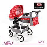 Кукольная коляска LILY SPORT TM Adbor с сумкой в комплекте (Ls-24, розовый, единорожка на сером), фото 6