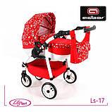 Кукольная коляска LILY SPORT TM Adbor с сумкой в комплекте (Ls-24, розовый, единорожка на сером), фото 9