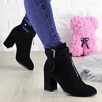 Женские ботинки на каблуке Mandy черные 1444