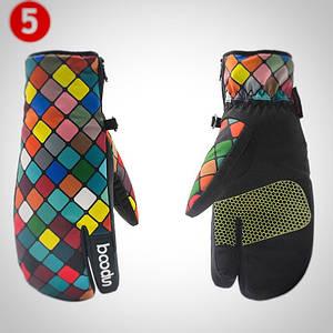 Женские горнолыжные перчатки BOODUN радуга