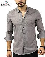 Стильная мужская рубашка с длинным рукавом, фабричная Турция