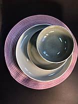 Тарелка большая обеденная керамическая бежево-серая Мрамор 28.5 см арт. 7953-11, фото 3