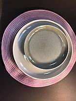 Тарелка большая обеденная керамическая бежево-серая Мрамор 28.5 см арт. 7953-11, фото 2