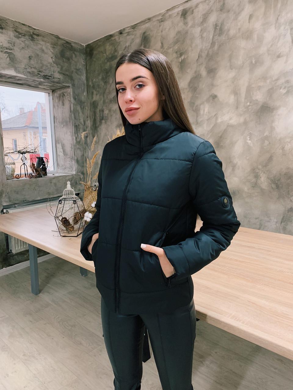 Демисезонная куртка К 0020 с 01 черный