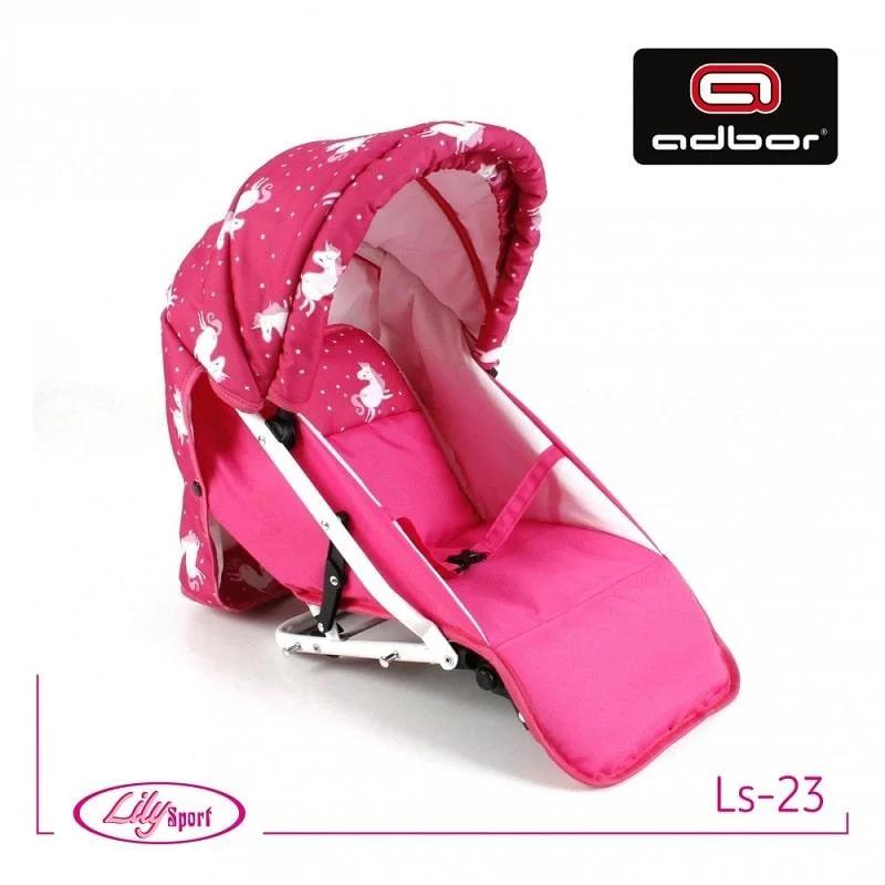 Прогулочный блок к коляске Lily SPORT TM Adbor (Ls-23, розовый, единорожка на розовом)