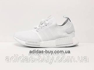 Кроссовки женские оригинальные adidas NMD R1 boost повседневные CQ2040 цвет: белый