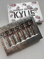 Набор из 6 жидких матовых помад Kylie Holiday Edition