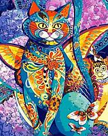 "Картина раскраска по номерам ""Чеширский кот"" на холсте 40Х50 см. Babylon VP613"