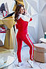 Молодіжний весняний спортивний жіночий костюм, кофта з капюшоном, фото 4