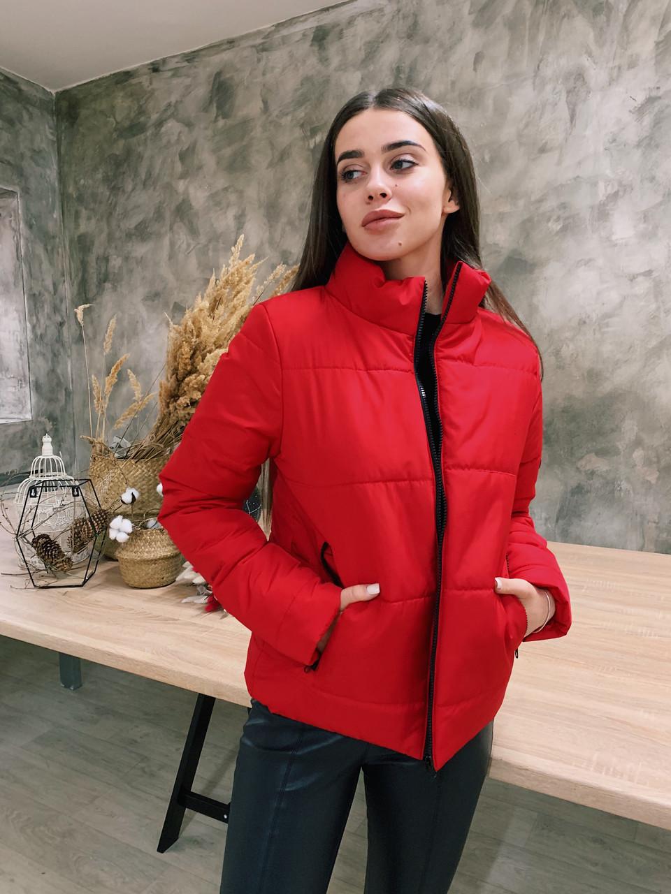 Демисезонная куртка К 0020 с 04 красный