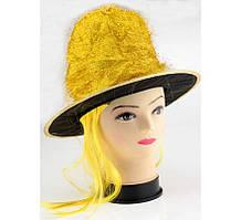 Карнавальный головной убор Шляпа с париком