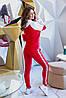 Молодежный весенний спортивный женский костюм, кофта с капюшоном, фото 7