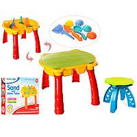 Столик-песочница со стульчиком для игр с песком и водой 506 А