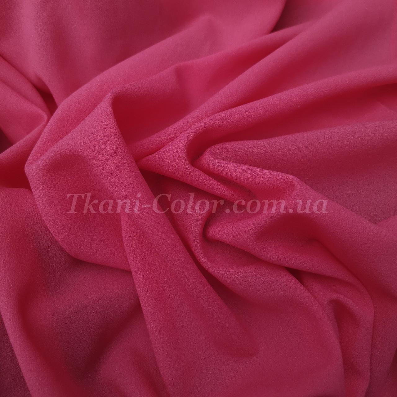 Ткань креп-шифон малиновый