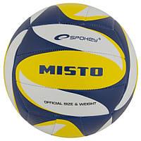 Волейбольный мяч Spokey Misto размер №5 синий рисунок с желтым