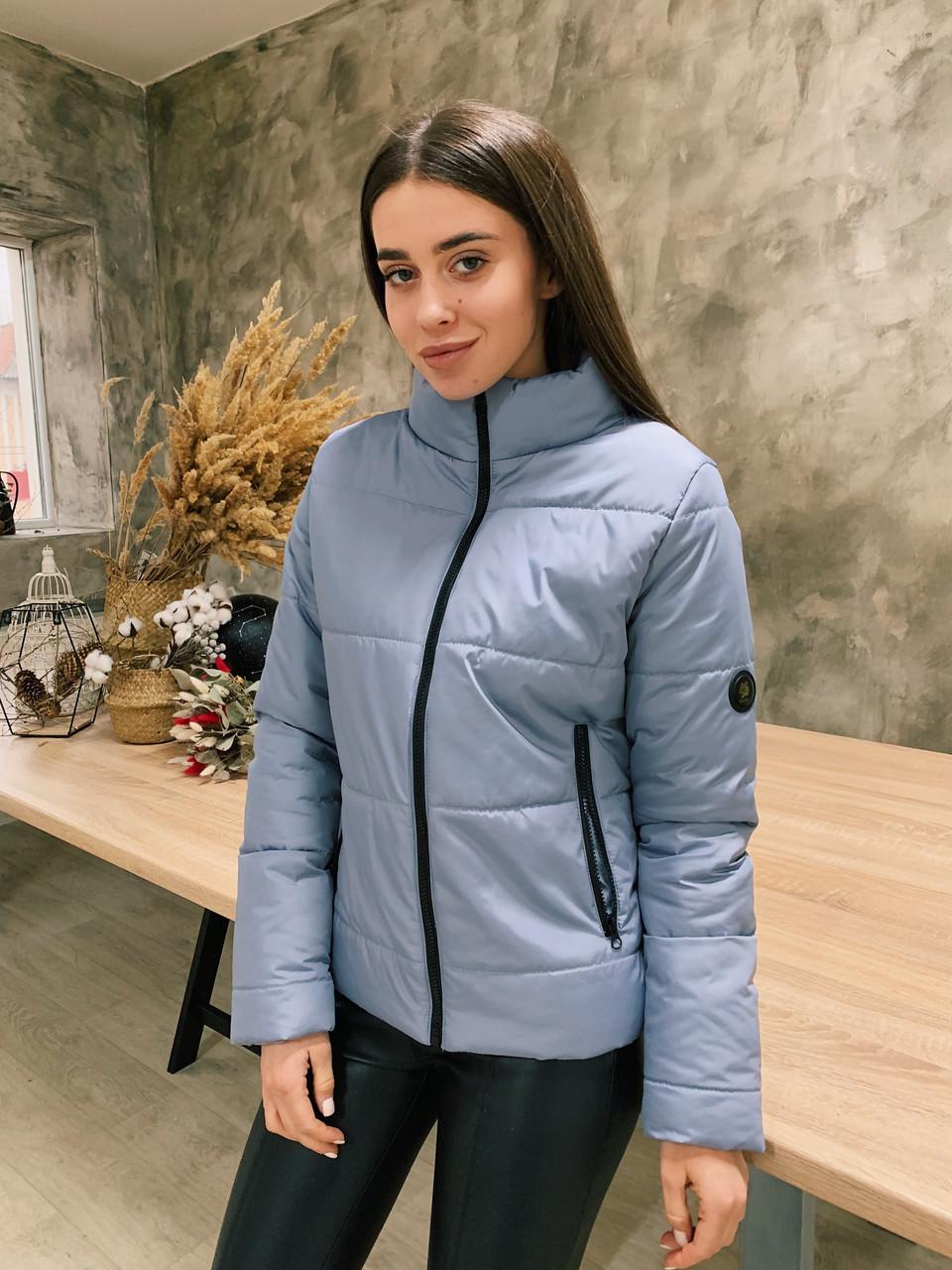 Демисезонная куртка К 0020 с 05 серый
