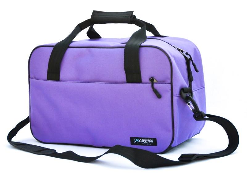 Сумка дорожная для ручной клади МАУ Carryon фиолетовая 55х40х20 см