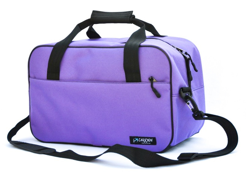 Сумка дорожня для ручної поклажі МАУ Carryon фіолетова 55х40х20 см