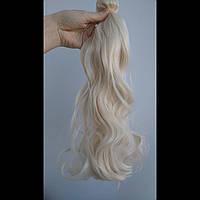 Волосы на заколках платиновый блонд