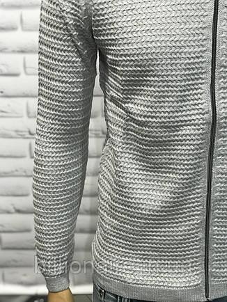 Кардиган «коса» сірий, фото 2
