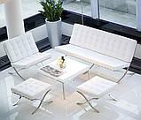 Диван Барселона 2-местный 160 см исскуственная кожа белый СДМ группа (бесплатная доставка), фото 2