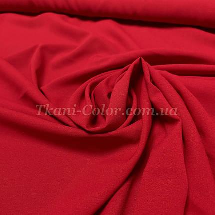 Тканина креп-шифон червоний, фото 2