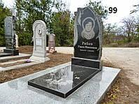 Одинарний пам'ятник з квітником комплекс із граніту