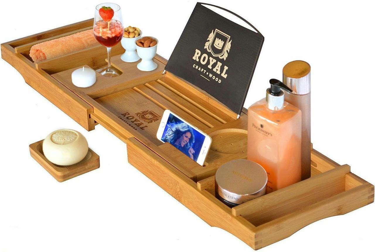 Столик для ванны ROYAL CRAFT WOOD Luxury, бамбуковый