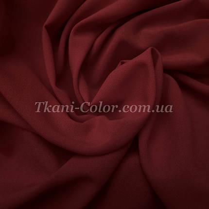 Ткань креп-шифон бордовый, фото 2