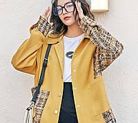 Оригинальная желтая куртка в корейском стиле