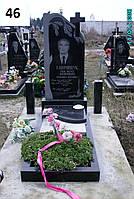 Одинарний памятник із граніту на цвинтар для чоловіка
