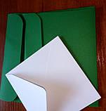 Конверт С6+ зеленый 120гр, фото 3
