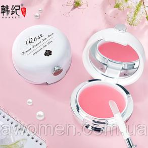 Питательная ночная маска для губ Hankey Rose Lip Mask с экстрактом розы 13 g