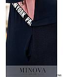 Спортивний костюм жіночий з подовженою кофтою Турецька двонитка та сітка Розмір 50 52 54 56 58 60 62 64, фото 5