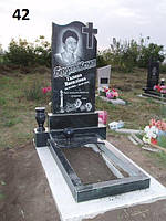 Пам'ятник на цвинтар з граніту +полка +ваза