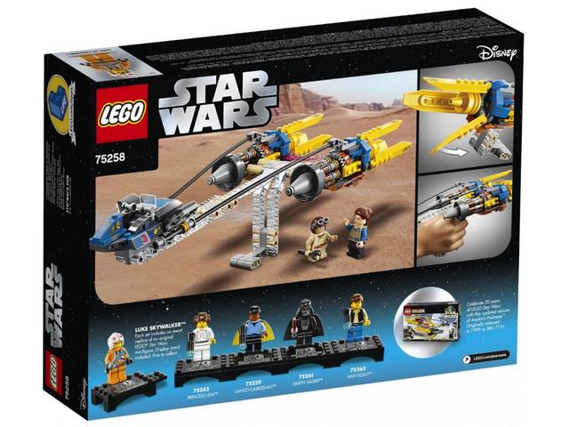 Конструктор LEGO Star Wars Гоночный под Энакина - выпуск к 20-летнему юбилею 279 деталей (75258)