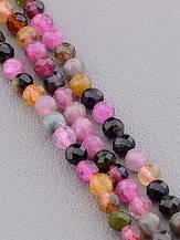 Нити из натуральных камней разноцветные