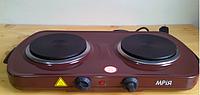 Электроплита МРіЯ ПЭН-2Д 2х конфорочная(диски,блины) нержавейка, фото 1