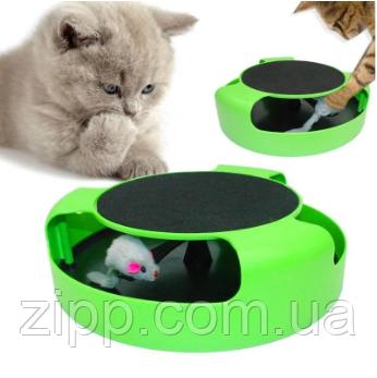 Інтерактивна гра для котів з точилкою для кігтів Trixie Catch The Mouse   кіт і миша   когтеточка