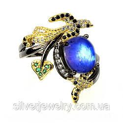 Серебряное кольцо с ЛУННЫМ КАМНЕМ (натуральный), серебро 925 пр. Размер 17,25