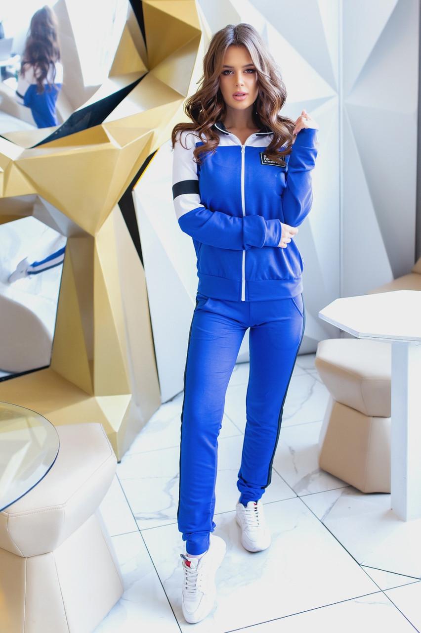 Стильний весняний спортивний жіночий костюм, кофта на блискавці з коміром стійкою