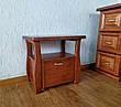 """Тумбочка прикроватная для спальни из натурального дерева """"Грета Вульф"""" от производителя, фото 3"""