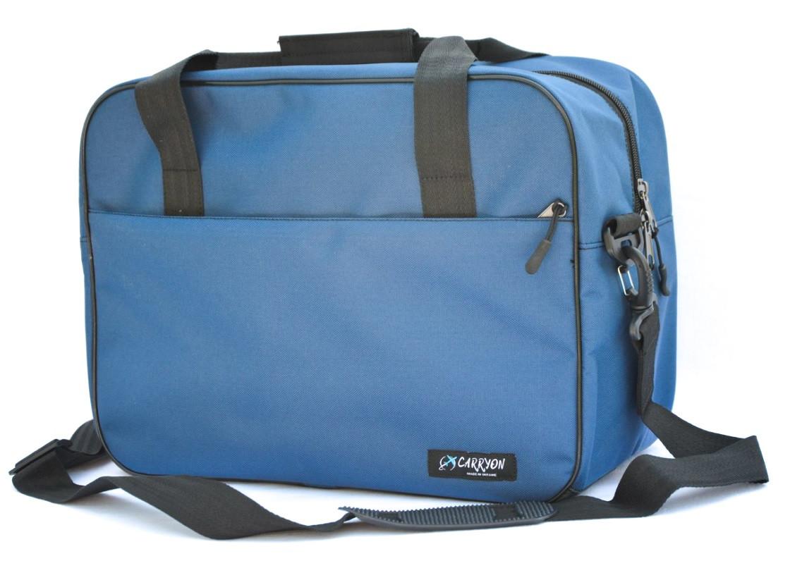Сумка дорожня для ручної поклажі МАУ Carryon синя 55х40х20 см