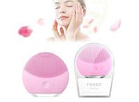 Электрическая силиконовая щетка для умывания - массажер для очищения кожи лица Foreo Luna mini 2, розовая, фото 1