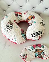 Набор подушка для сна и маска Лол