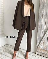Костюм женский классический чёрный, бордо, коричневый 42-44,44-46